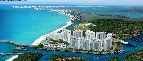 Atlantic City Golf >> Novo Cancun Condos in Puerto Cancun, Mexico. Beachfront & golf vacation homes